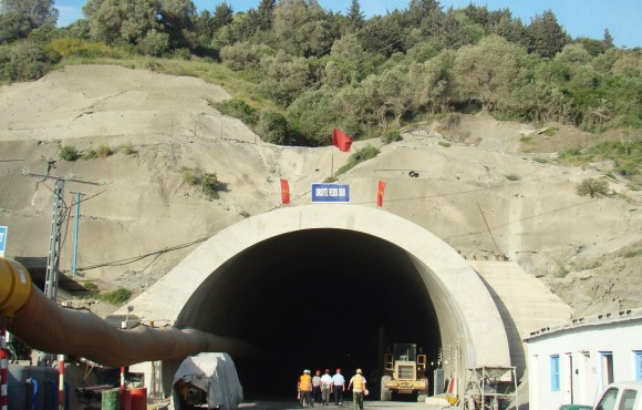 Tunnel under construction
