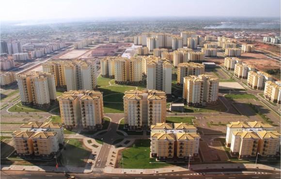 Colorful buildings of Kilamba's new neighborhoods