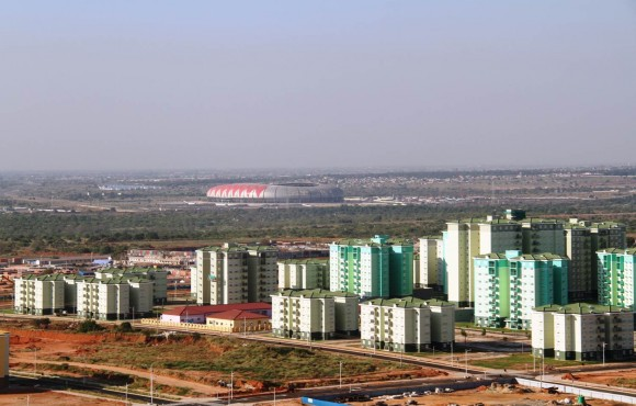 Partial View of Kilamba and its stadium